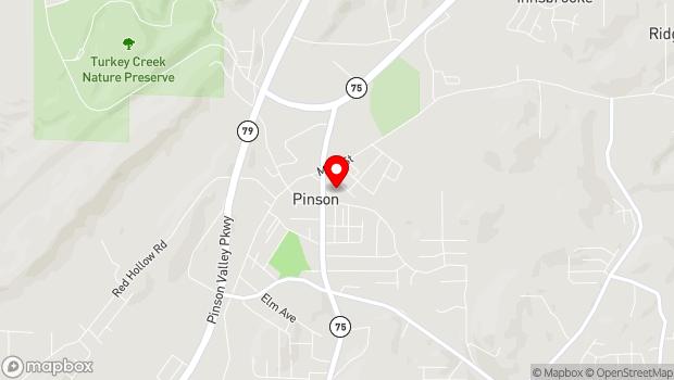 Google Map of 4509 Center Point Rd, Pinson, AL 35126