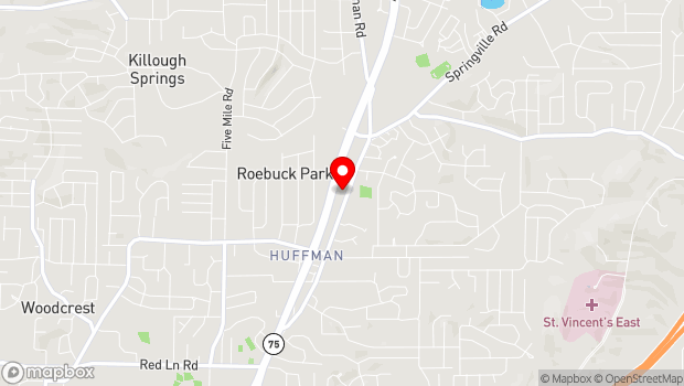 Google Map of 980 Huffman Road, Birmingham, AL 35215