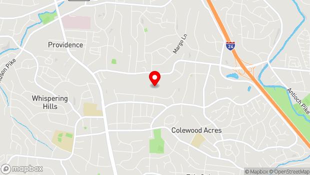 Google Map of 299 Haywood Lane, Nashville, TN 37211