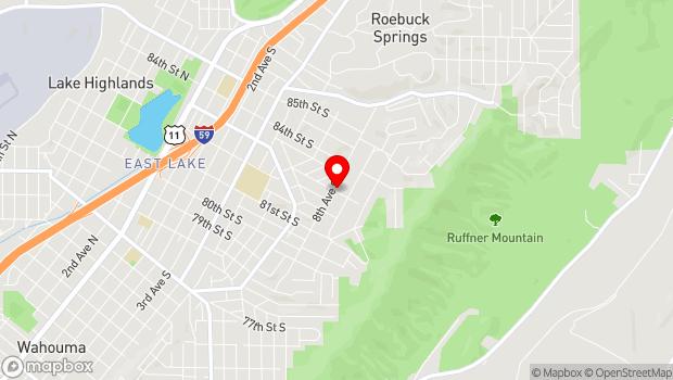 Google Map of 8301 8th Avenue South, Birmingham, AL 35206