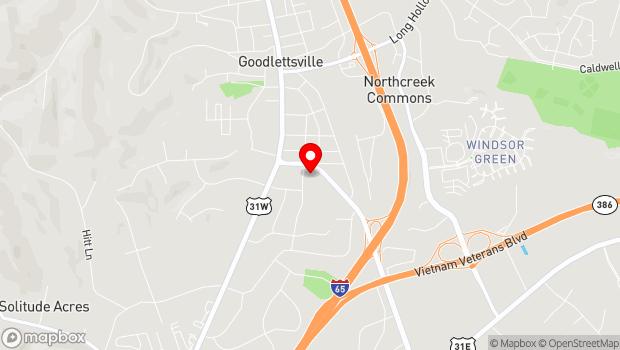 Google Map of 205 Rivergate Parkway, Goodlettsville, TN 37072
