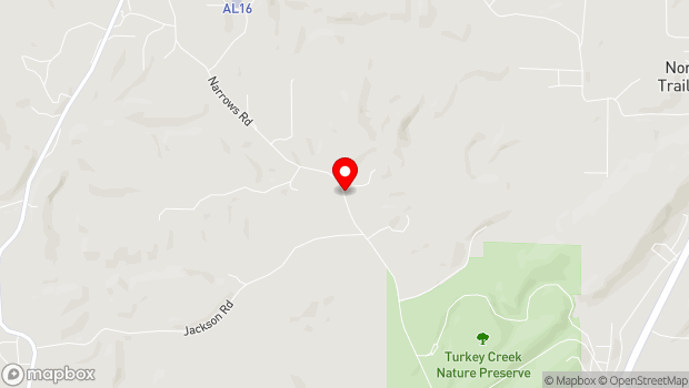 Google Map of Narrows Road, Pinson, AL 35126