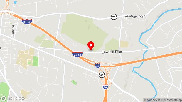 Google Map of 1120 Elm Hill Pike, Nashville, TN 37210