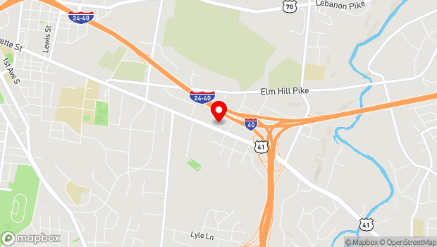 Google Map of 702 Murfreesboro Pike, Nashville, TN 37210