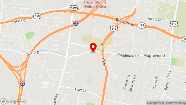 Google Map of 272 Broadmoor Drive, Nashville, TN 37207