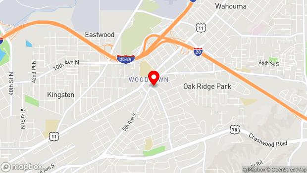 Google Map of 5529 1st Ave So, Birmingham, AL 35212
