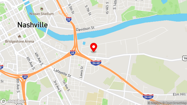 Google Map of 220 Willow Street, Nashville, TN 37210