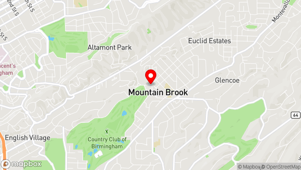 Google Map of 224 Country Club Park, Mountain Brook, AL 35213