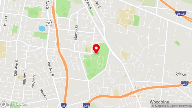 Google Map of 625 Smith Avenue, Nashville, TN 37204
