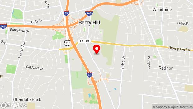 Google Map of 719 Thompson Lane, Nashville, TN 37204