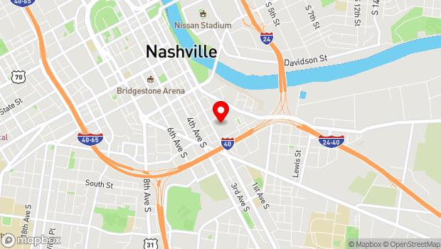 Google Map of 25 Middleton Street, Nashville, TN 37210