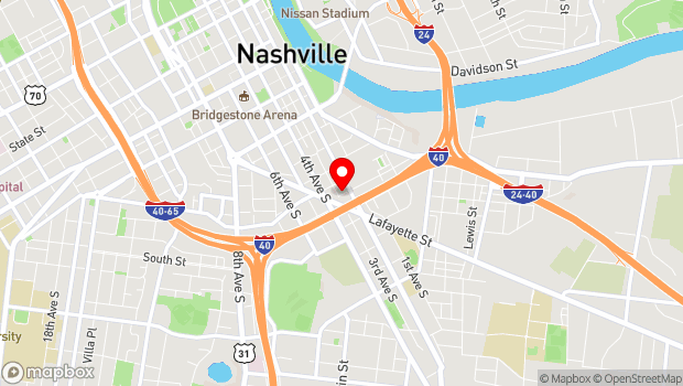Google Map of 818 Third Avenue South, Nashville, TN 37210