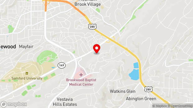 Google Map of 780 Brookwood Village, Birmingham, AL 35209