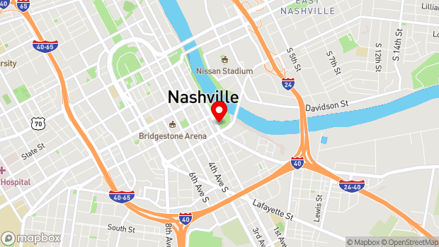 Google Map of 310 1st Avenue South, Nashville, TN 37201