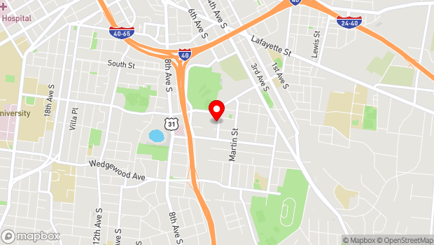 Google Map of 516 Hagan Street, Nashville, TN 37203