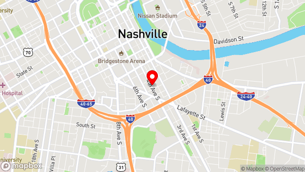 Google Map of 618 4th Avenue S., Nashville, TN 37210