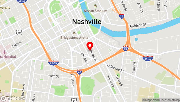 Google Map of 601 Fourth Avenue South, Nashville, TN 37210
