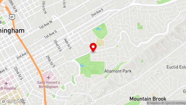 Google Map of 3813 Clairmont Ave S, Birmingham, AL 35222