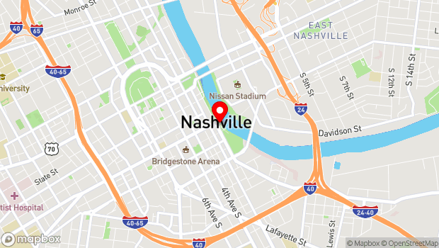 Google Map of 108 1st Avenue South, Nashville, TN 37201