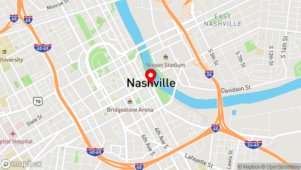 Google Map of 101 Broadway, Nashville, TN 37201
