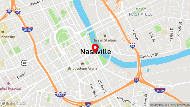Google Map of 105 Broadway, Nashville, TN 37201
