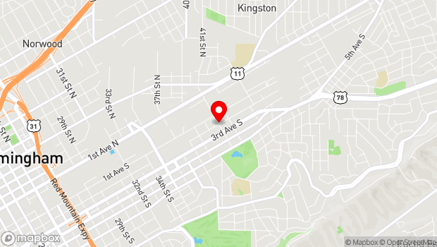 Google Map of 131 41st Street South, Birmingham, AL 35222