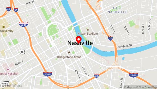 Google Map of 111 Broadway, Nashville, TN 37201