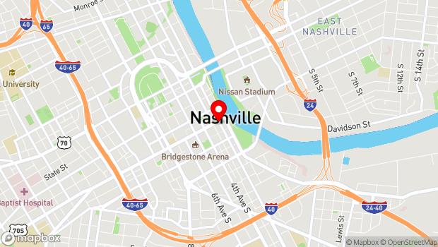 Google Map of 201 Broadway, Nashville, TN 37210