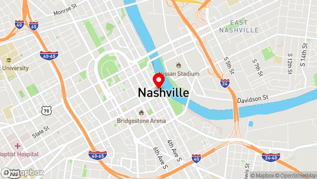 Google Map of 120 Second Avenue North, Nashville, TN 37201