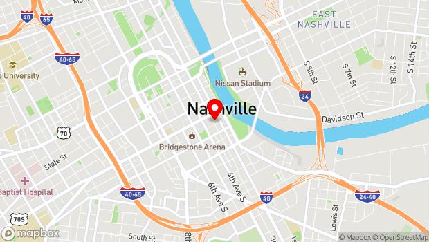 Google Map of 120 3rd Avenue South, Nashville, TN 37201