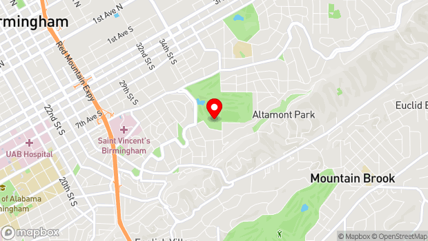 Google Map of 3300 Highland Avenue, Birmingham, AL 35205