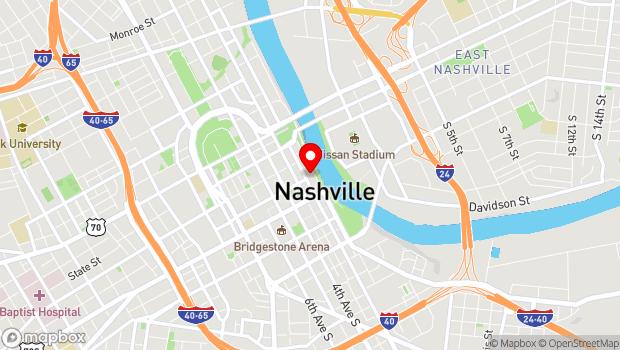 Google Map of 152 Second Avenue North, Nashville, TN 37201