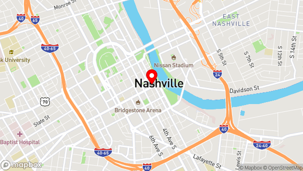 Google Map of 208 Broadway, Nashville, TN 37201