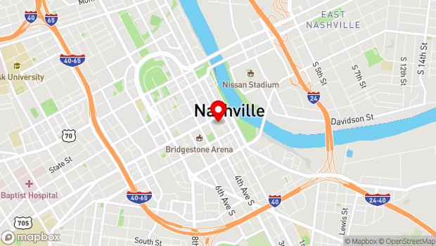 Google Map of 119 3rd Ave. S, Nashville, TN 37201