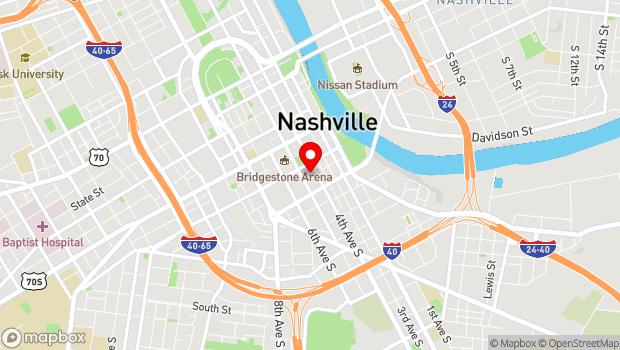 Google Map of 224 5th Avenue S., Nashville, TN 37203