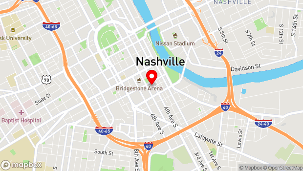 Google Map of 222 Fifth Avenue South, Nashville, TN 37203