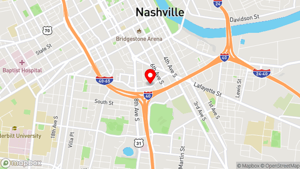 Google Map of 809 Ewing Avenue, Nashville, TN 37203