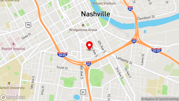 Google Map of 609 Lafayette Street, Nashville, TN 37203