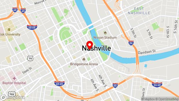 Google Map of 308 Broadway, Nashville, TN 37201