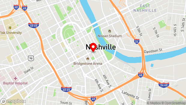 Google Map of 329 Broadway, Nashville, TN 37212