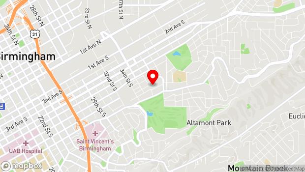 Google Map of 3600 8th Ave S, Birmingham, AL 35222
