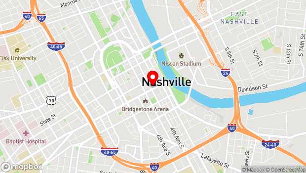 Google Map of 316 Broadway, Nashville, TN 37201