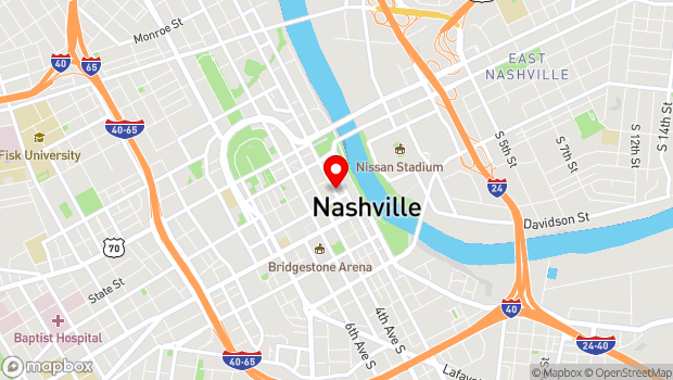 Google Map of 162 3rd Avenue North, Nashville, TN 37201