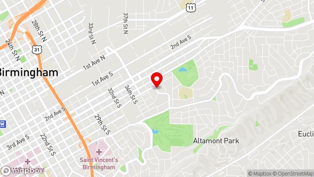 Google Map of 605 37th Street S, Birmingham, AL 35222