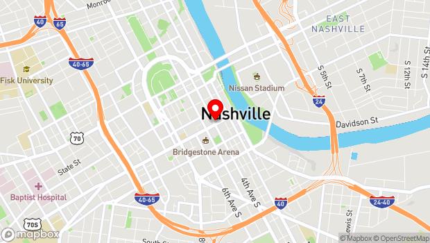 Google Map of 322 Broadway, Nashville, TN 37201