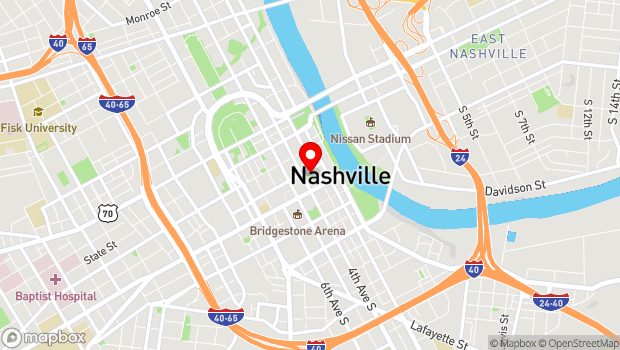 Google Map of 333 Commerce Street, Nashville, TN 37201