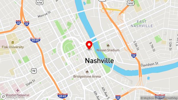 Google Map of 221 2nd Avenue North, Nashville, TN 37201