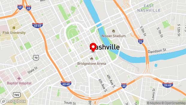 Google Map of 418 Broadway, Nashville, TN 37203