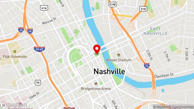 Google Map of 1 Public Square, Nashville, TN 37201