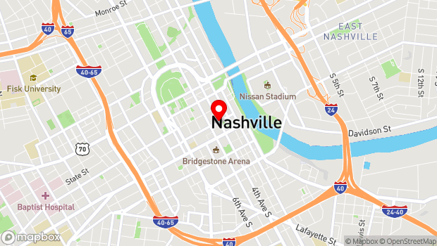 Google Map of 105 4th Avenue North, Nashville, TN 37219